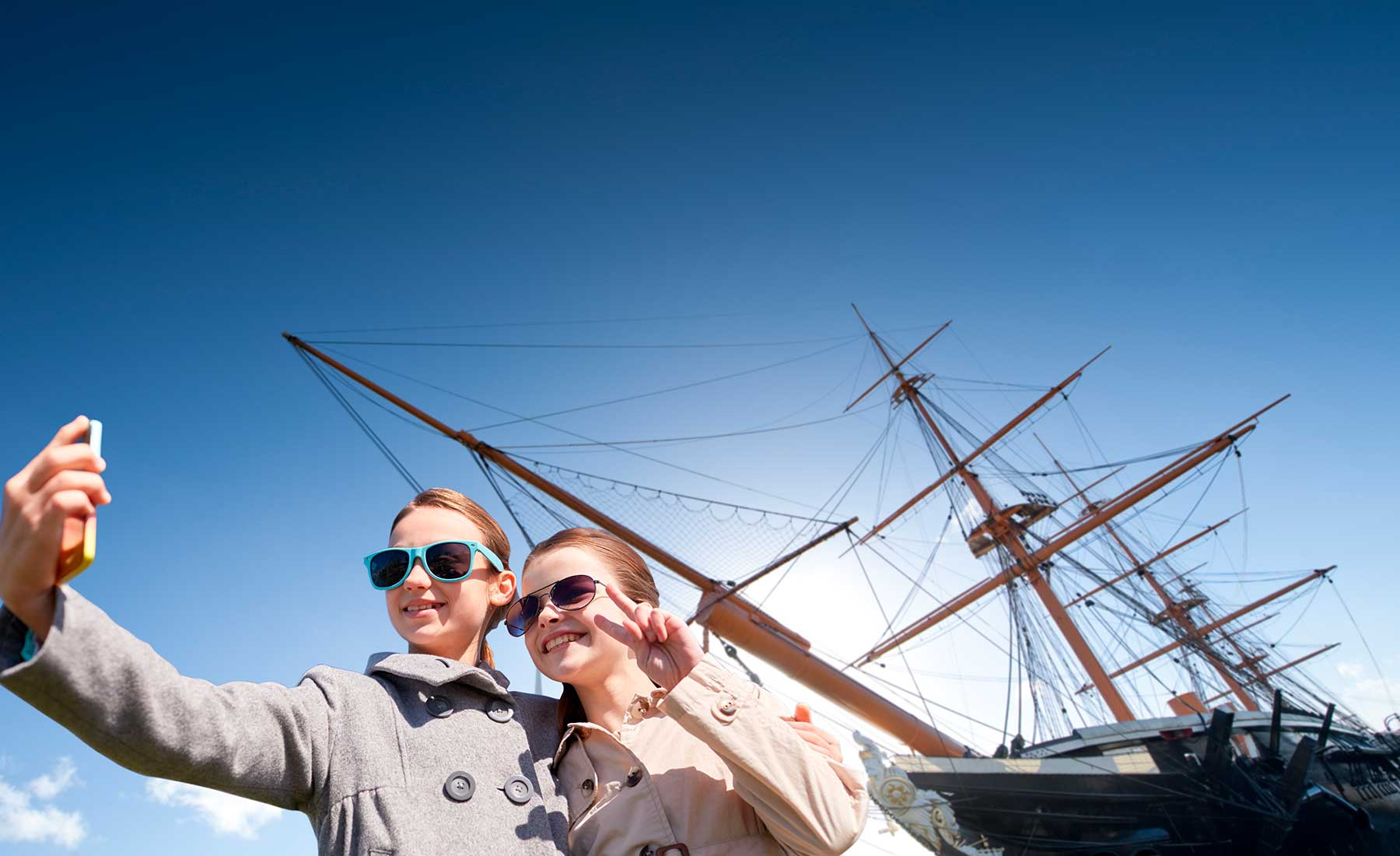 See HMS Warrior on a day out in Portsmouth