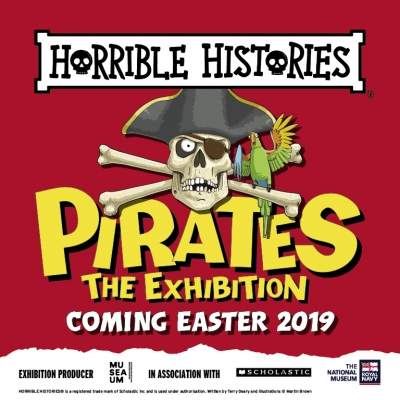 Set sail for the seven seas and visit Horrible Histories Pirates: The Exhibition this April