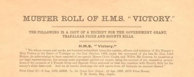 HMS Victory – her crew at the Battle of Trafalgar